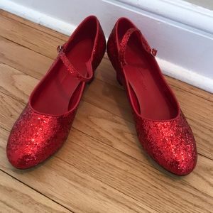 Red Glitter character heel shoes